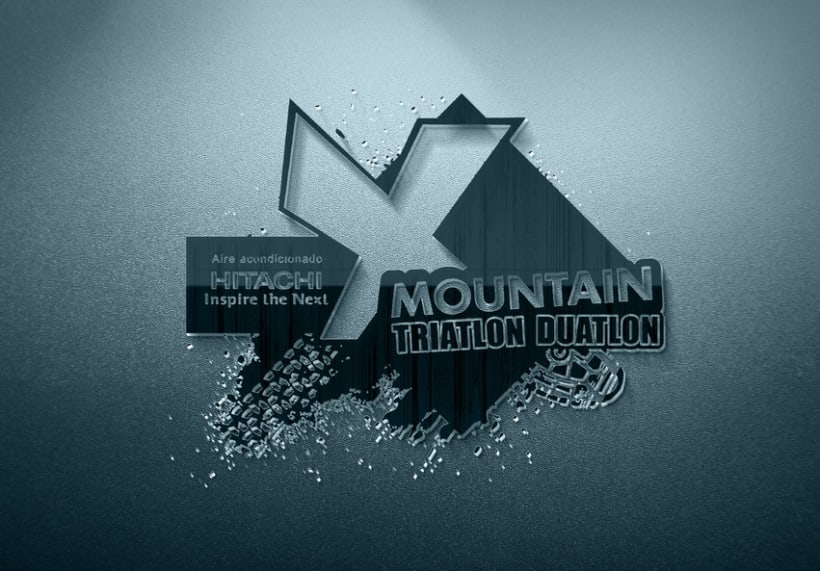 Logo Hitachi X-MOUNTAIN DUATLON-TRIATLON 2