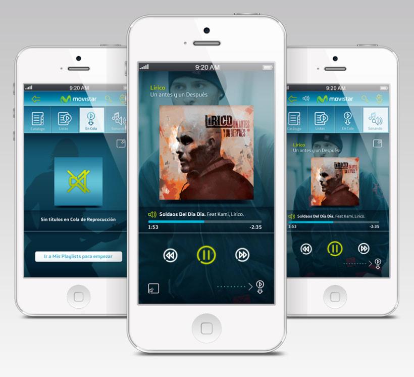 Music Store & Player Movistar. Trabajo para Genexies Mobile. 0