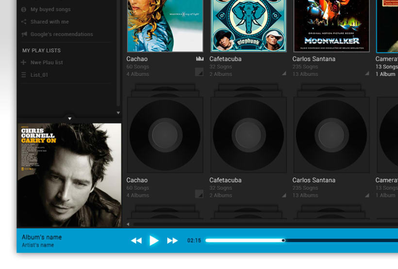 Google Music Player. Concept Design 6