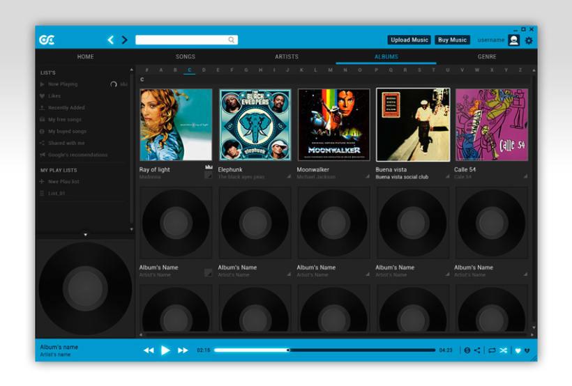 Google Music Player. Concept Design 9