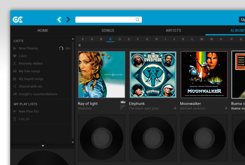 Google Music Player. Concept Design 10