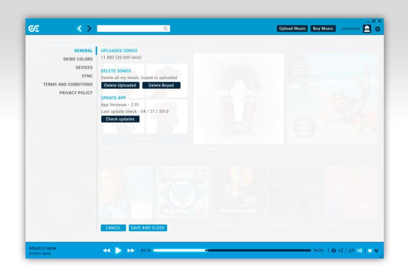 Google Music Player. Concept Design 13