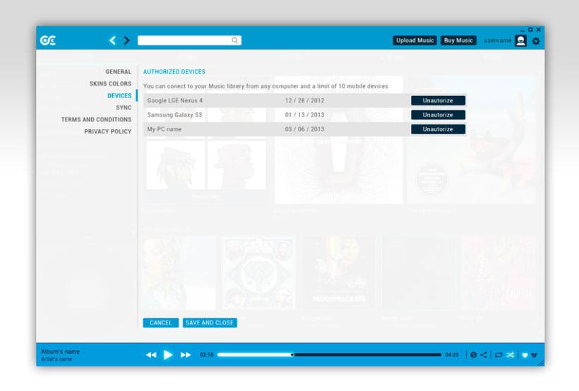 Google Music Player. Concept Design 15