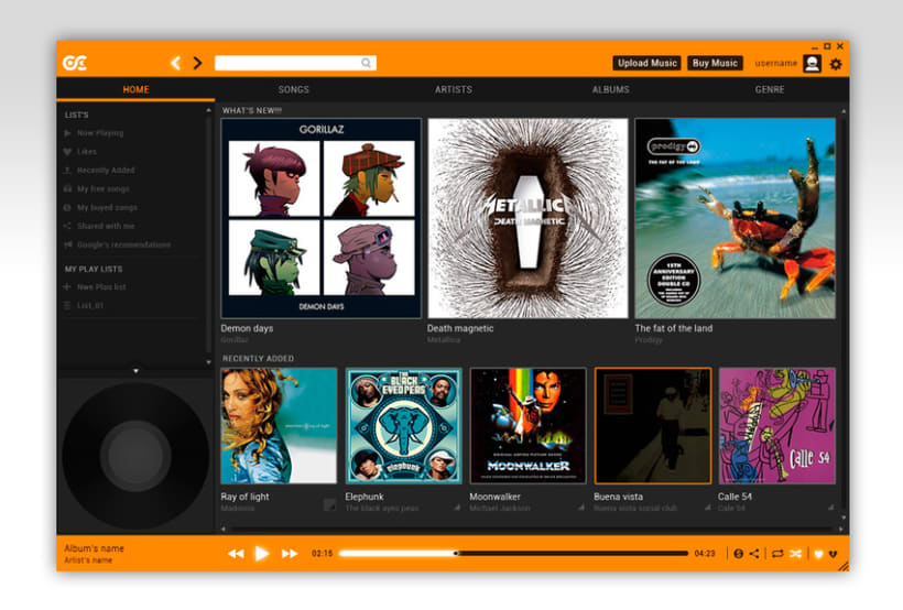 Google Music Player. Concept Design 16