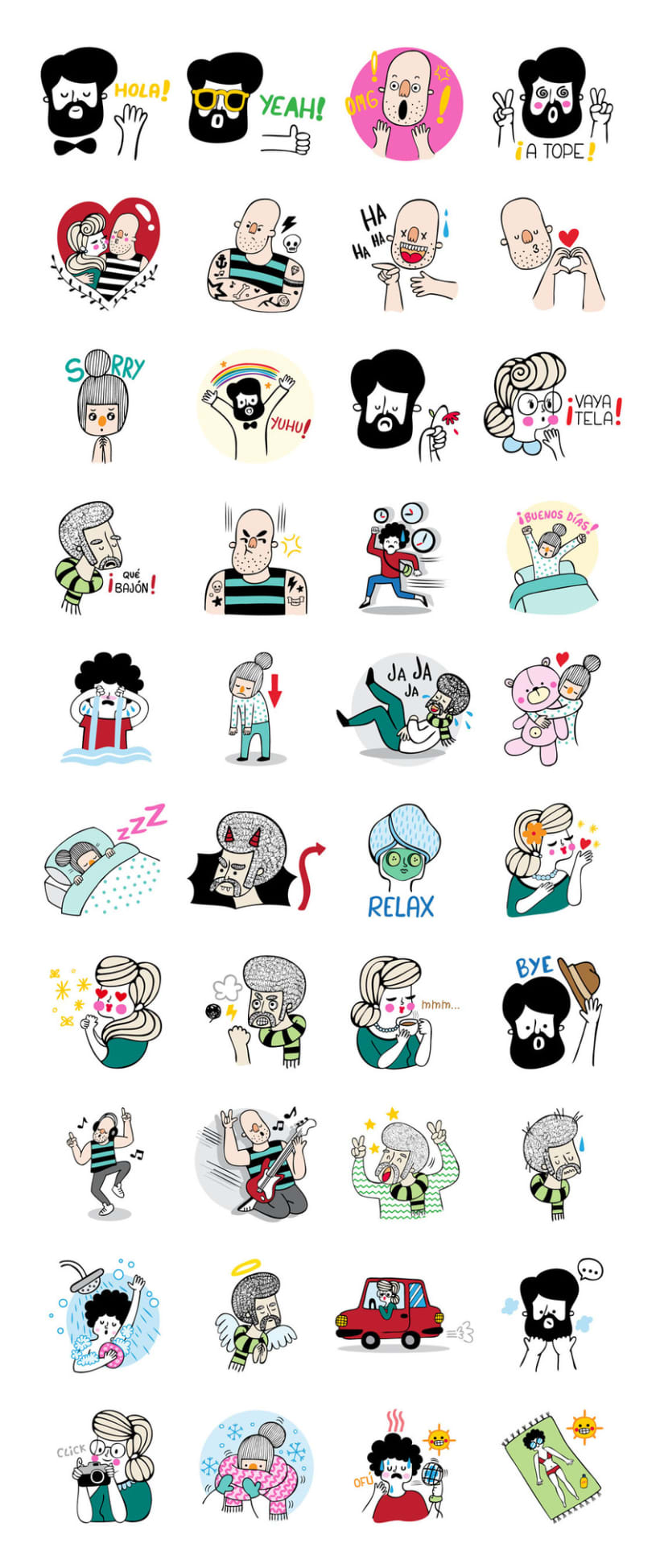 LINE Stickers - A Funny Crew 3
