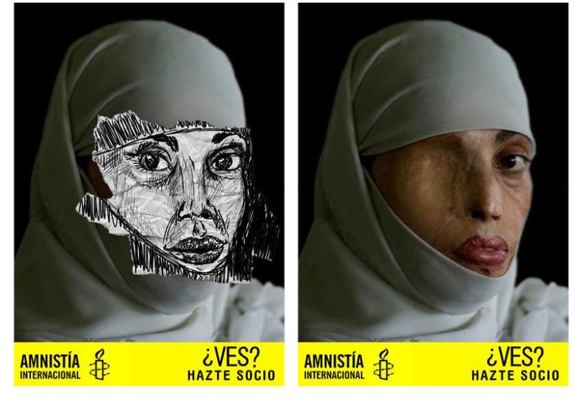 Gráficas para amnistía internacional para captar nuevos socios.  2