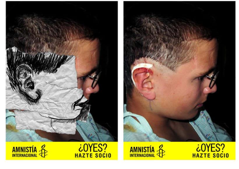 Gráficas para amnistía internacional para captar nuevos socios.  1