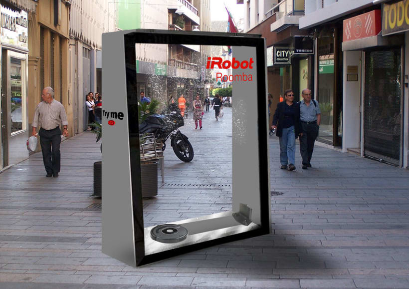 Street marketing para el robot de limpieza Roomba de la marca irobot. 0