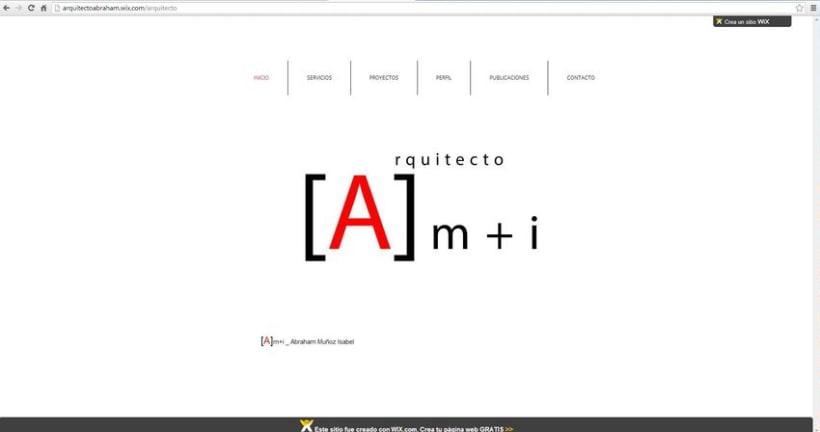 Diseño de la  web del estudio .  0