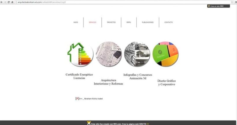 Diseño de la  web del estudio .  2