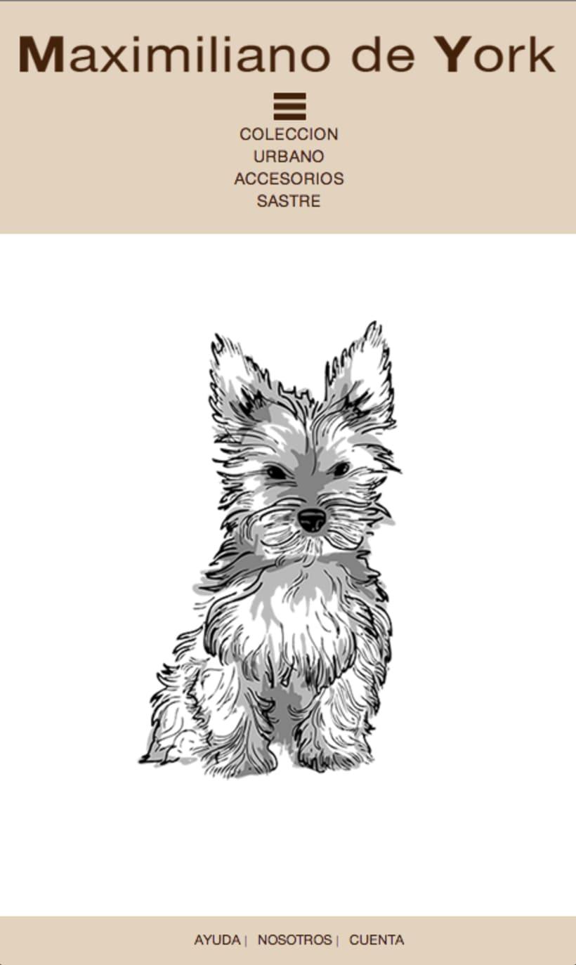 Tienda online de venta de ropa para perros. Maximiliano de York 1