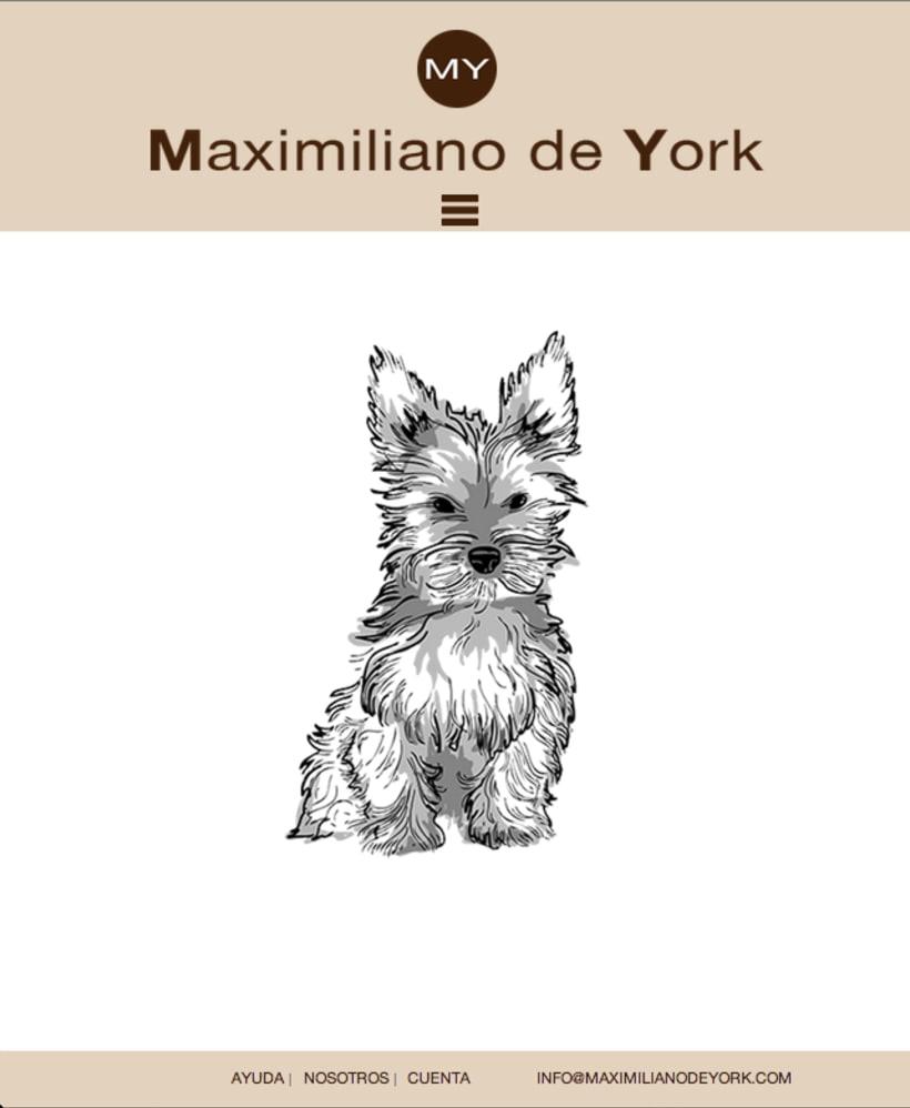 Tienda online de venta de ropa para perros. Maximiliano de York 3