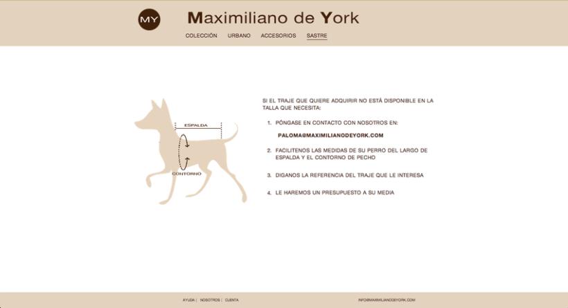 Tienda online de venta de ropa para perros. Maximiliano de York 5