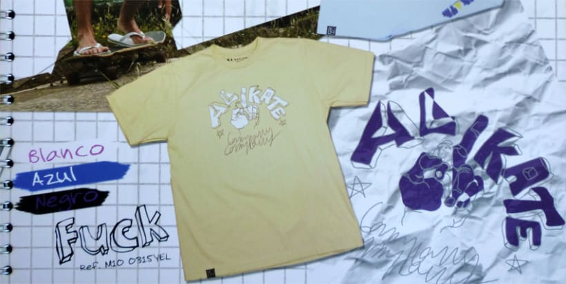 "illustration Designs for street wear company "" Alikate"" 4"