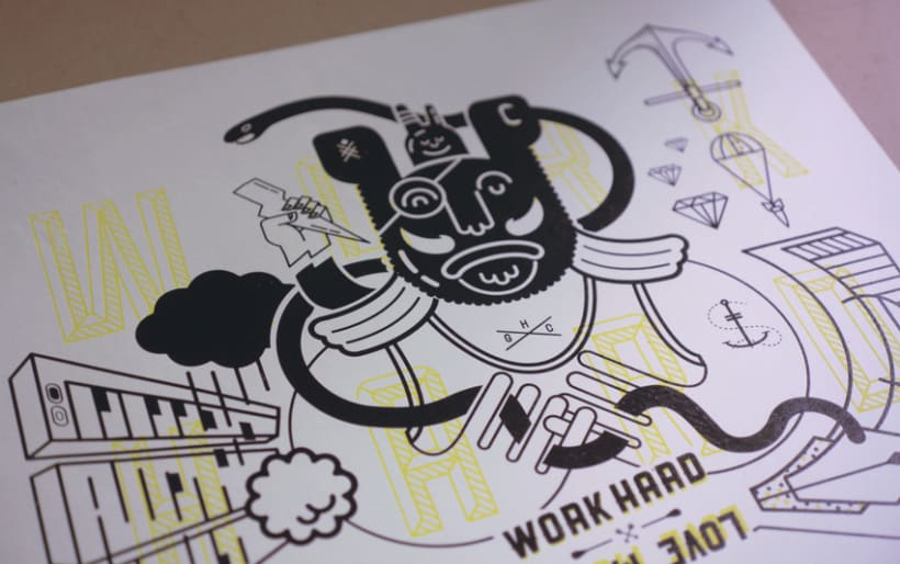 WORK HARD LOVE MORE / SILK-PRINT LIMITED EDITION 0