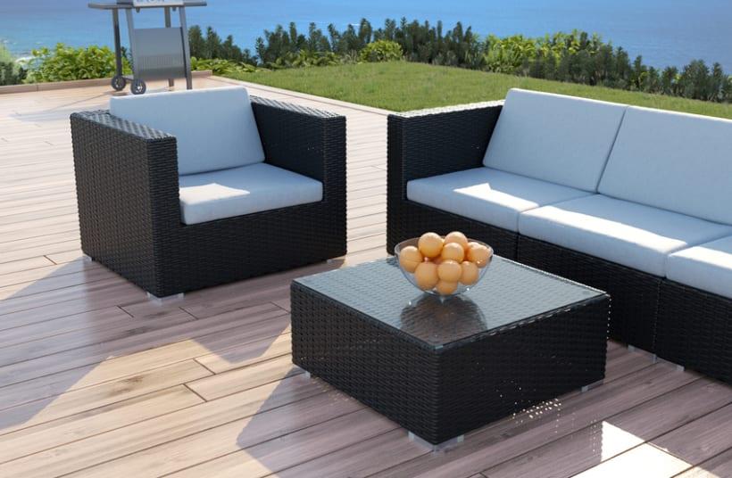 mimbre i renders 3d sof s jard n exterior domestika