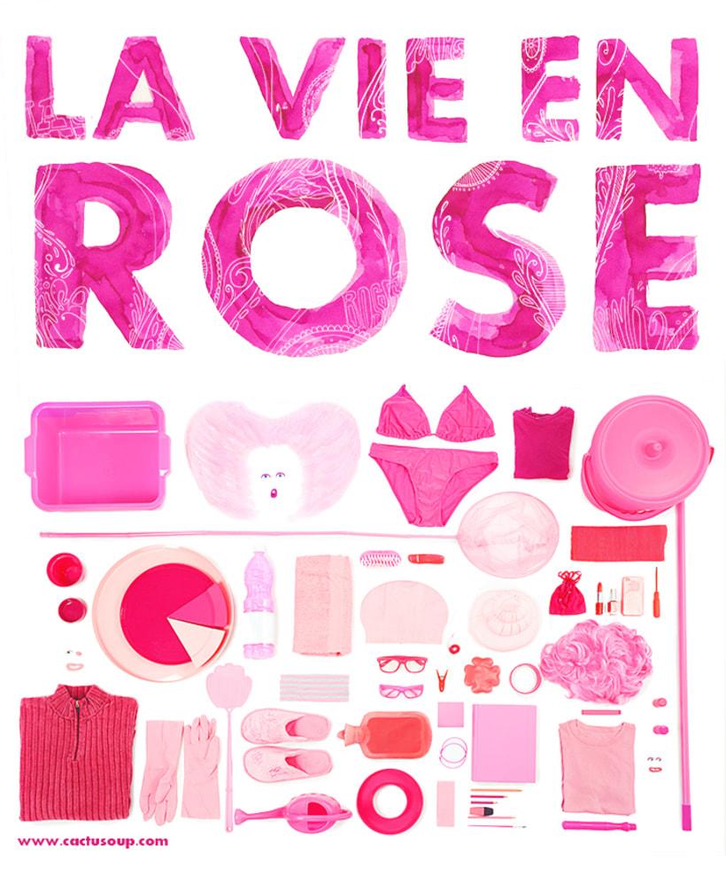 La vie en rose / Type and foto poster 0
