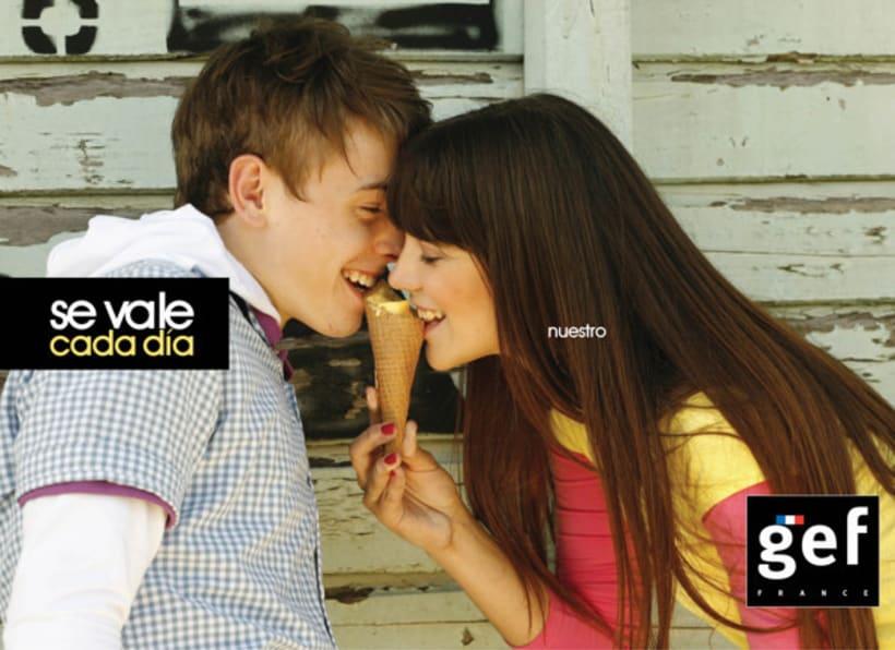 """Campaña """"Se vale cada día gef""""  (Ganadora mejor campaña publicitaria de moda premios infashion 2010) 3"""