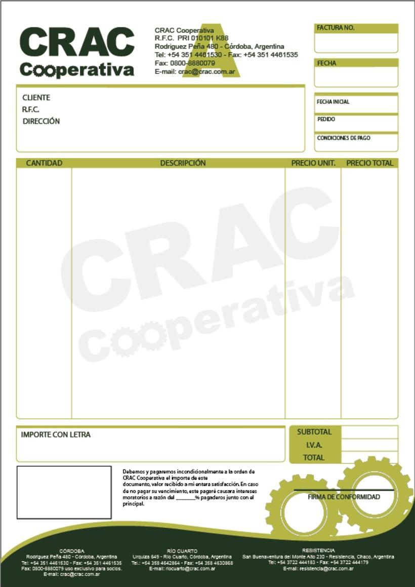 Identidad crac cooperativa domestika for Diseno de facturas