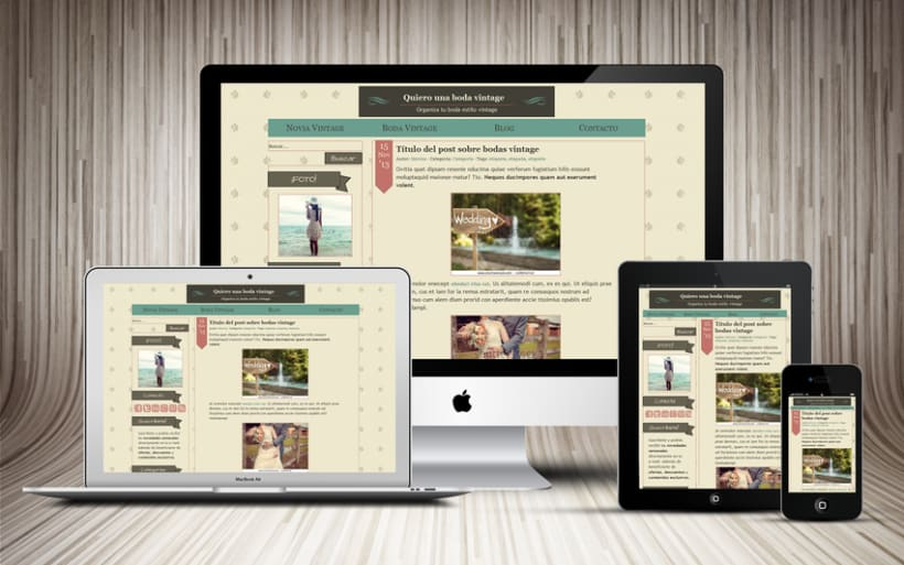 Tema Wordpress Vintage | Domestika