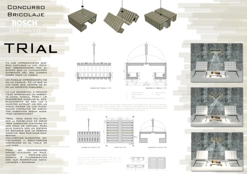 Diseño de mobiliario | Trial -1