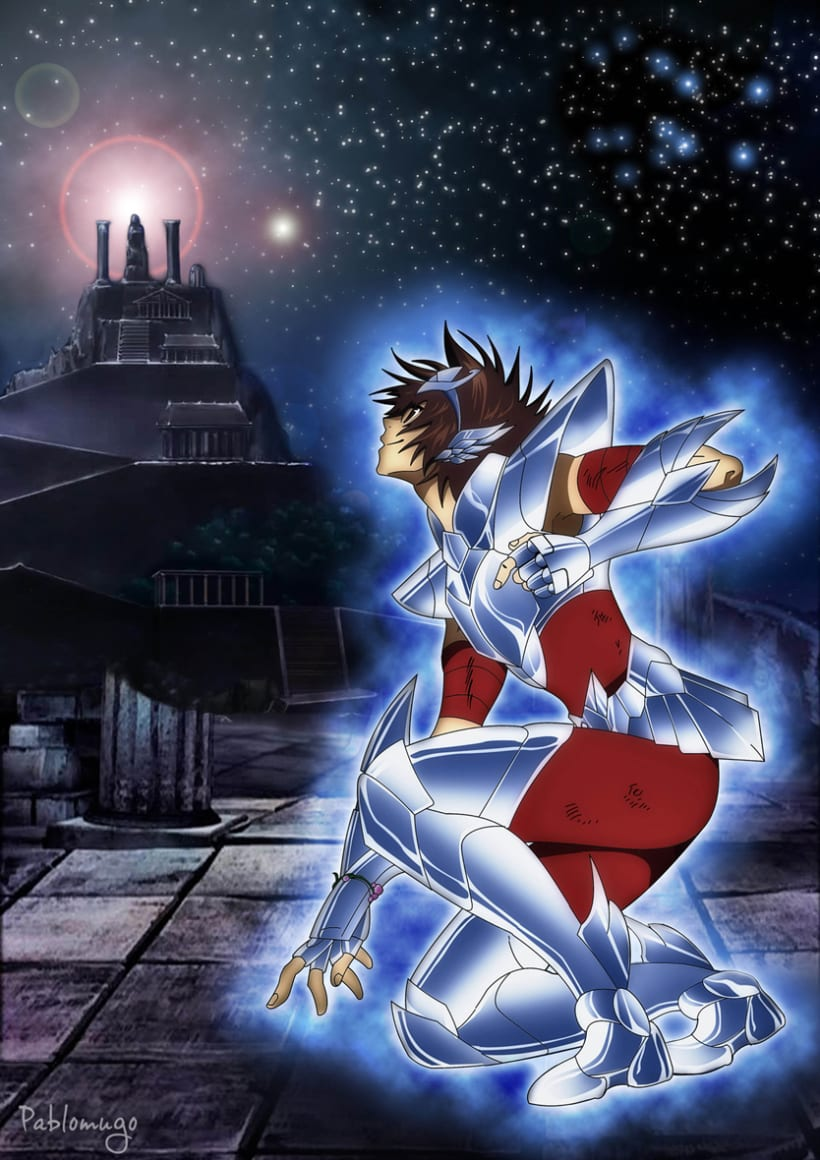Ilustración Tenma Saint Seiya The Lost Canvas 0