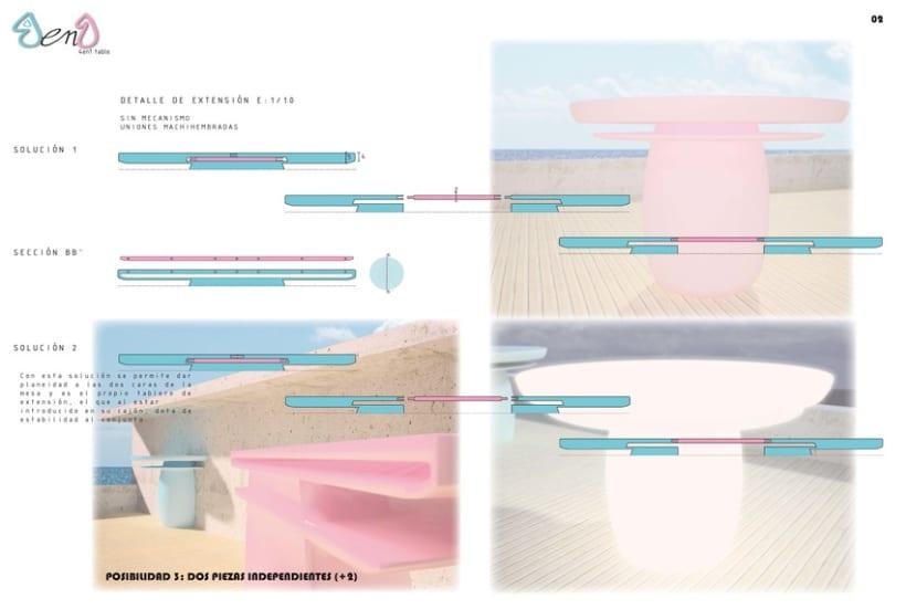 Diseño de mesa extensible para exterior 3