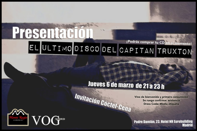 Diseño Invitación Evento LA NOCHE DEL CAPITÁN 1