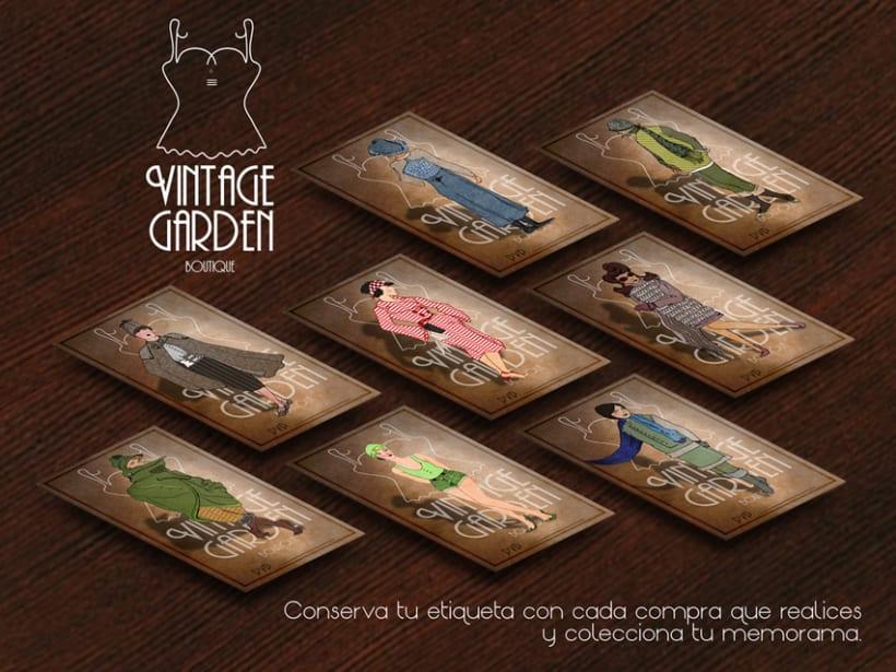 Memorama de etiquetas para la boutique Vintage Garden 0