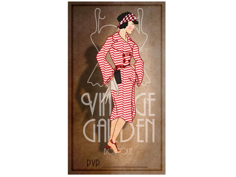 Memorama de etiquetas para la boutique Vintage Garden 11