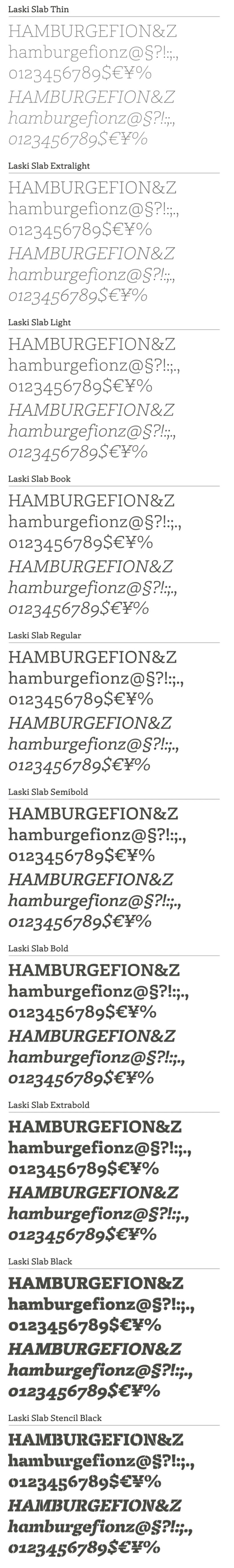 Laski Slab, nueva tipografía multipropósito 2