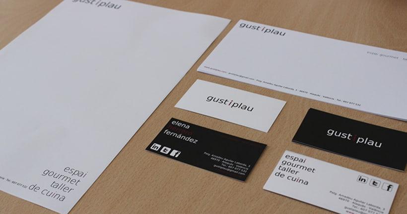 Gust i Plau Identidad Corporativa + Diseño Espacio 1