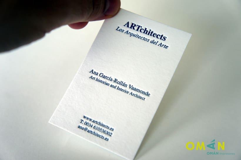 10 tarjetas impresas en letterpress 2