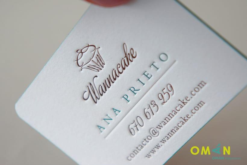 10 tarjetas impresas en letterpress 10