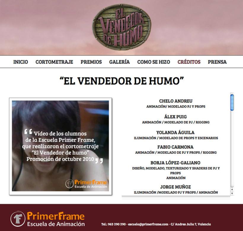 El Vendedor de Humo Web Site 1