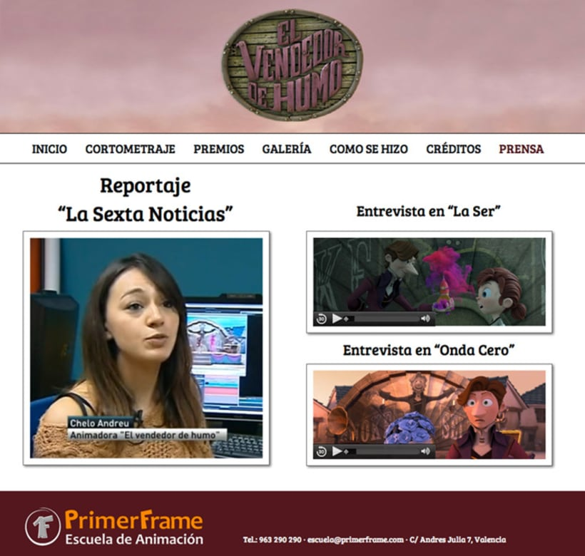 El Vendedor de Humo Web Site 3