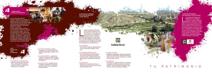 Marca de Calidad Territorial Altiplano de Granada (Tríptico Institucional y Totem para presentación) 5