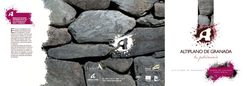 Marca de Calidad Territorial Altiplano de Granada (Tríptico Institucional y Totem para presentación) 6