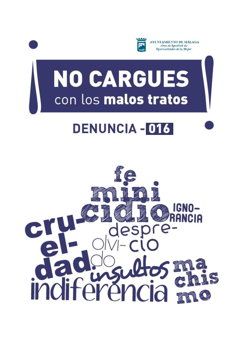 """Campaña Violencia de Genero (Ayuntamiento de Málaga)  """"No cargues con los malos tratos"""" 1"""