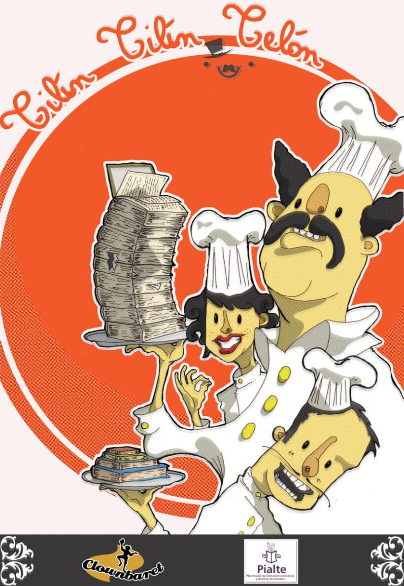 Ilustración: Cartel del expectáculo Tilín Tilín Telón. 1
