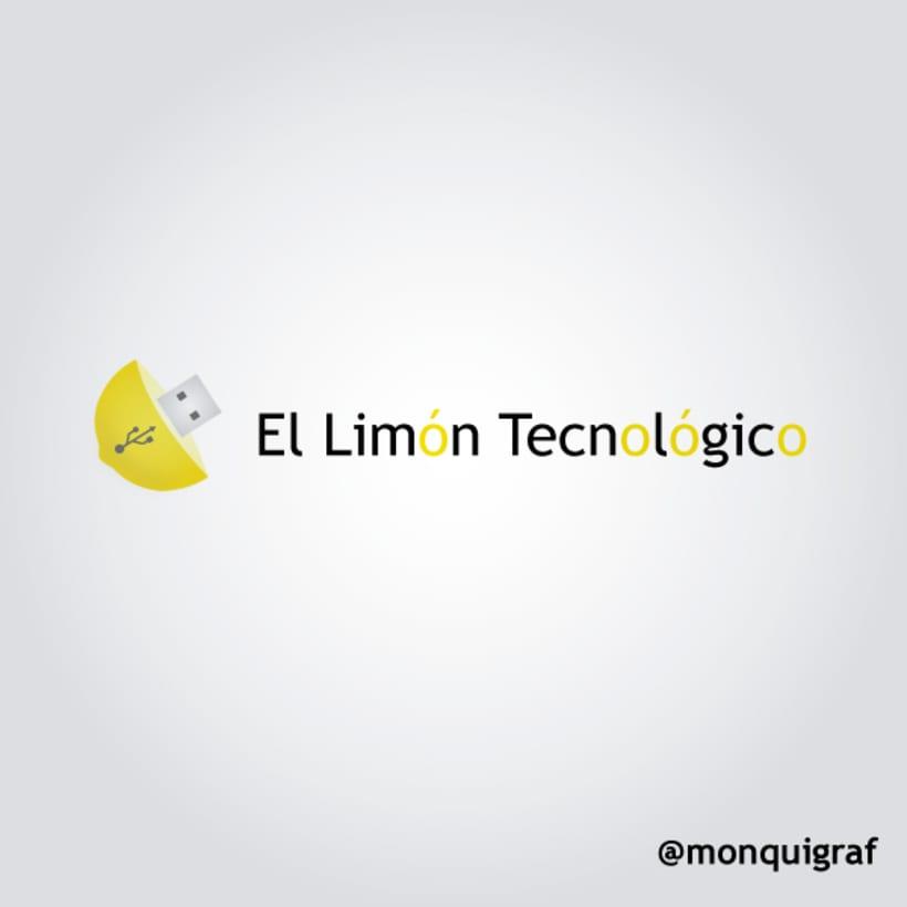#diseñografico de un #logo de El Limón Tecnológico  0