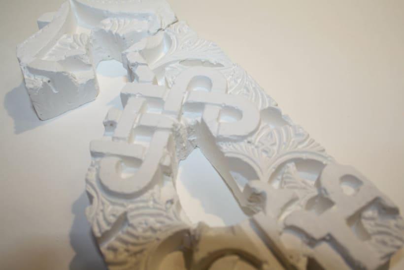 """Desarrollo de corpóreo en yeso para la campaña del """"Patronato de la Alhambra"""" 6"""