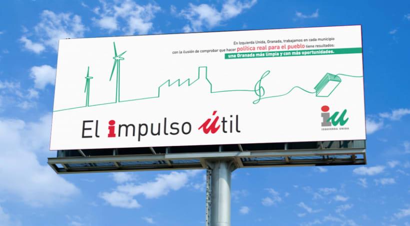 """Valla Campaña """"Impulso Útil"""" (Izquierda Unida) 1"""