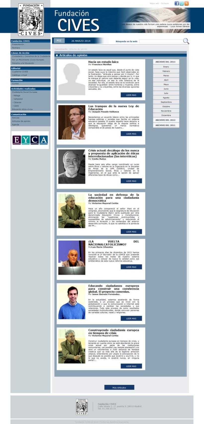 PHP + MySQL + CMS (Gestor de Contenidos) - Fundación CIVES 1