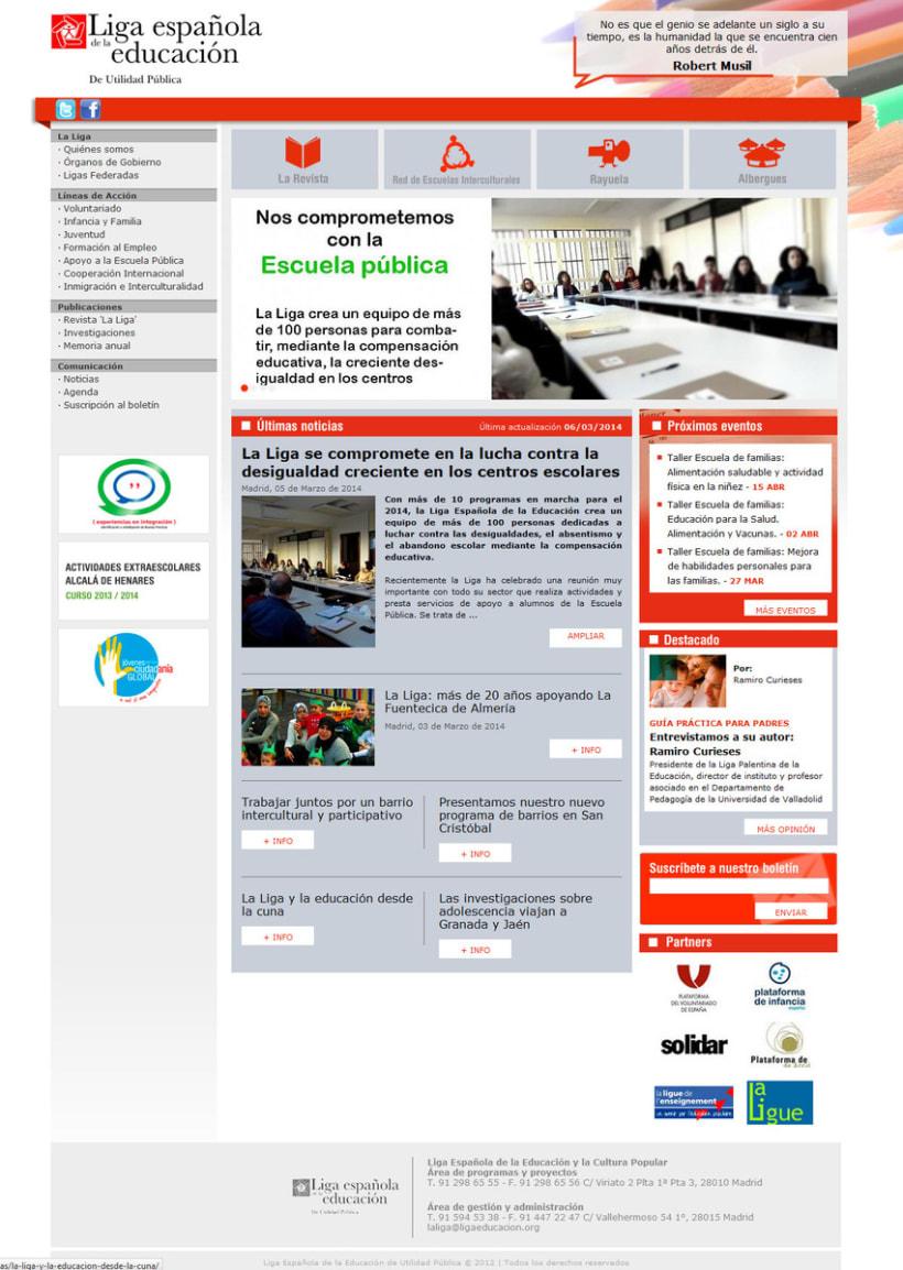 PHP + MySQL + CMS (Gestor de Contenidos) - Liga Española de la Educación 0