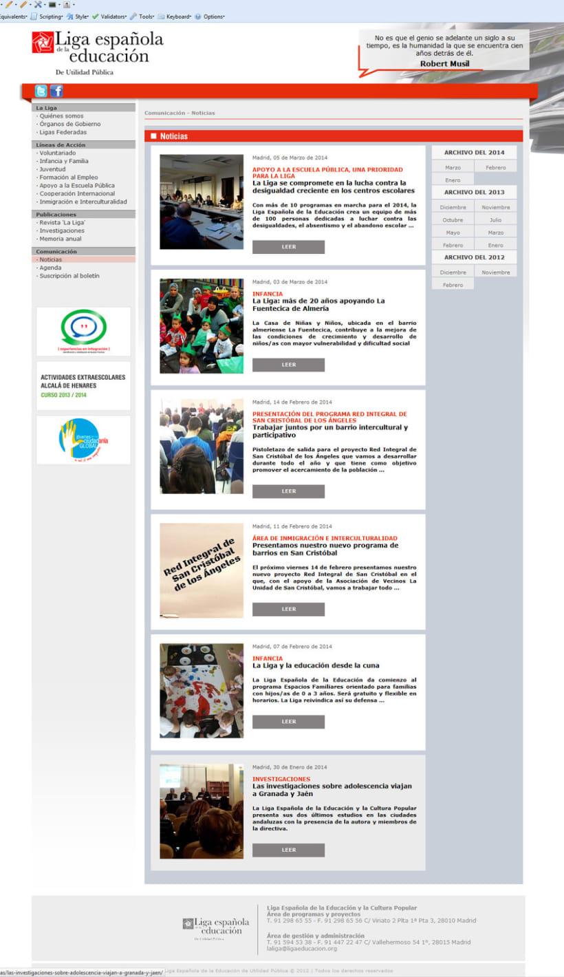 PHP + MySQL + CMS (Gestor de Contenidos) - Liga Española de la Educación 1