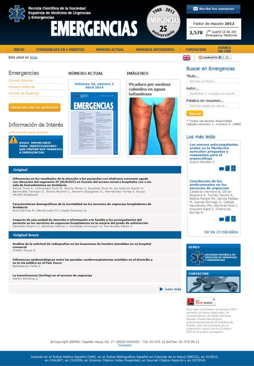 xHTML + CSS + PHP + MySQL + CMS (Gestor de Contenidos) + jQuery - Revista Semes 0