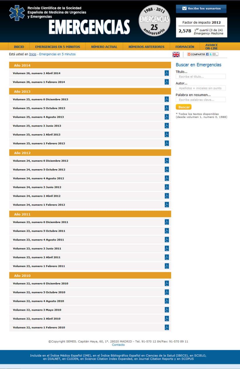 xHTML + CSS + PHP + MySQL + CMS (Gestor de Contenidos) + jQuery - Revista Semes 1