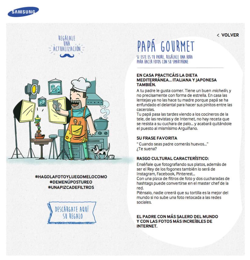 El día del padre tecnológico. Samsung 8