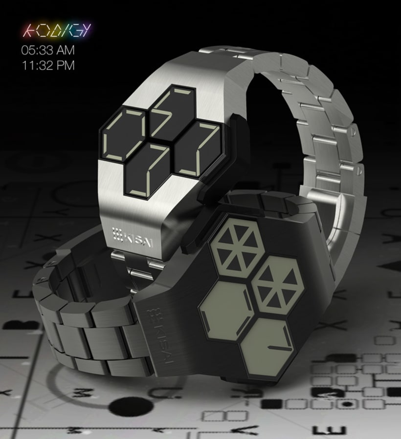 KODIGY. Watch concept design, with secret code 1